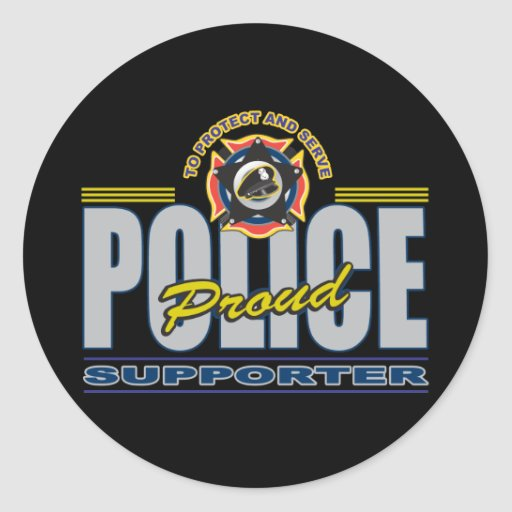 Proud Police Supporter Classic Round Sticker