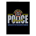 Proud Police Supporter Greeting Card