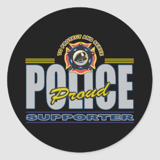 Proud Police Supporter Round Stickers