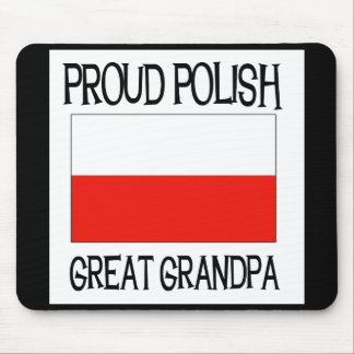 Proud Polish Great Grandpa Mouse Pad
