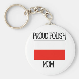 Proud Polish Mom Keychain