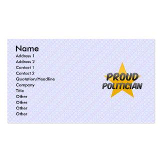 Proud Politician Business Card Template