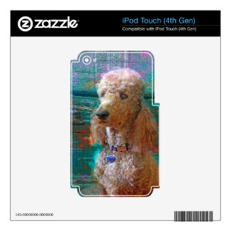 PROUD POODLE iPod TOUCH 4G DECAL