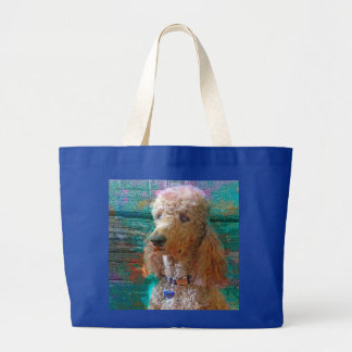 PROUD POODLE LARGE TOTE BAG
