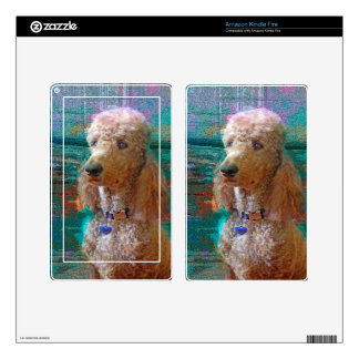 PROUD POODLE SKIN FOR KINDLE FIRE