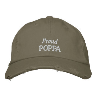 Proud POPPA-Father's Day OR Birthday Embroidered Baseball Cap