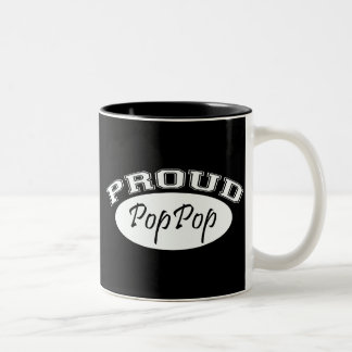 Proud PopPop (White) Two-Tone Coffee Mug