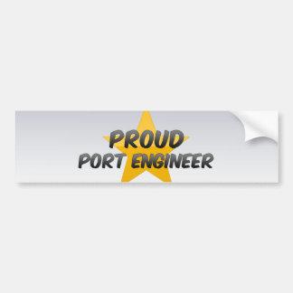 Proud Port Engineer Car Bumper Sticker