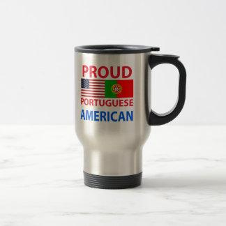 Proud Portuguese American Travel Mug