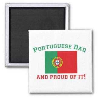 Proud Portuguese Dad 2 Inch Square Magnet