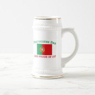 Proud Portuguese Dad Beer Stein