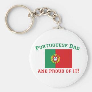 Proud Portuguese Dad Keychain