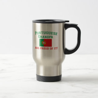 Proud Portuguese Grandpa Travel Mug