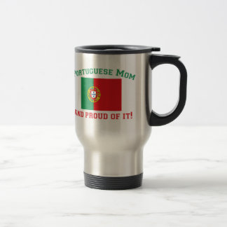 Proud Portuguese Mom 15 Oz Stainless Steel Travel Mug