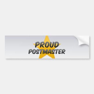 Proud Postmaster Car Bumper Sticker