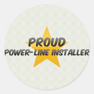 Proud Power-Line Installer Round Sticker