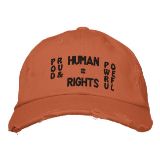 Proud & Powerful Adjustable Distressed Hat