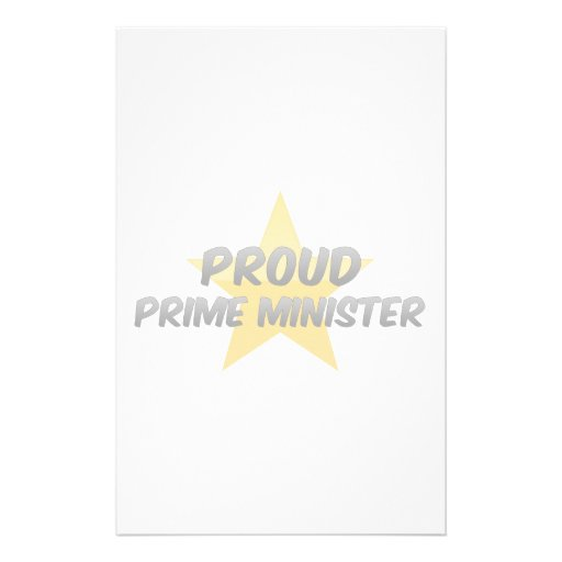 Proud Prime Minister Customized Stationery