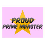 Proud Prime Minister Postcard
