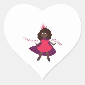 Proud Princess Heart Sticker