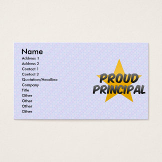 Proud Principal Business Card