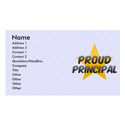 Proud Principal Business Card Templates