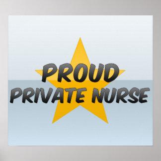 Proud Private Nurse Poster