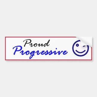 Proud Progressive Smiley Bumper Sticker