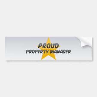 Proud Property Manager Car Bumper Sticker