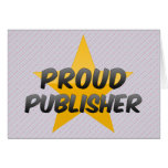Proud Publisher Greeting Card