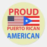 Proud Puerto Rican American Sticker