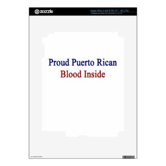 Proud Puerto Rican Blood Inside Decals For iPad 3