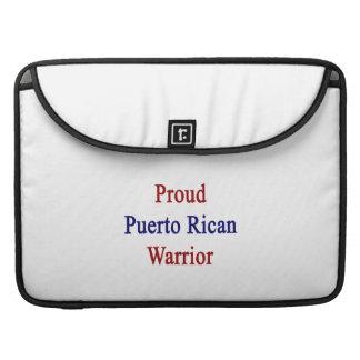 Proud Puerto Rican Warrior Sleeve For MacBook Pro