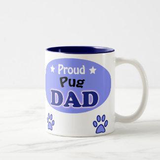 Proud Pug Dad Two-Tone Coffee Mug