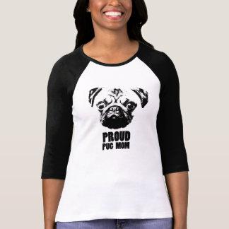 proud pug mom camiseta
