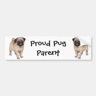 Proud Pug Parent Bumper Sticker
