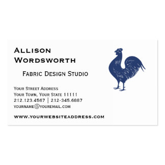 Proud Purple Rooster Double-Sided Standard Business Cards (Pack Of 100)