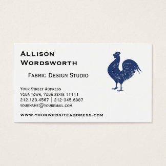 Proud Purple Rooster Business Card