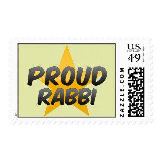 Proud Rabbi Postage Stamp