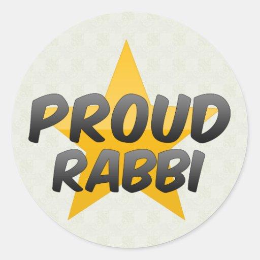 Proud Rabbi Round Stickers
