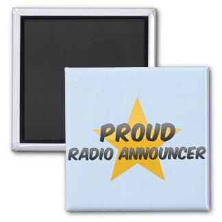Proud Radio Announcer 2 Inch Square Magnet