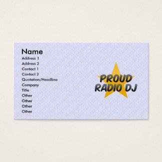 Proud Radio Dj Business Card