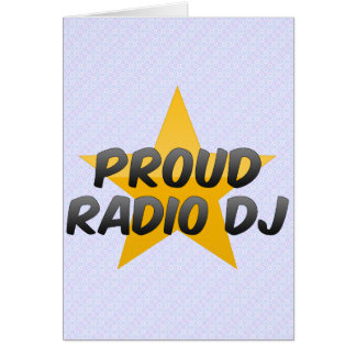 Proud Radio Dj Card
