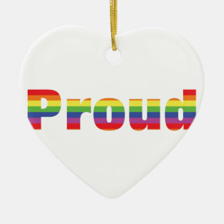 Proud Rainbow Designs Ceramic Ornament