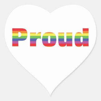 Proud Rainbow Designs Heart Sticker