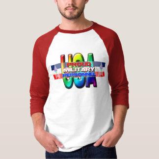 Proud Rainbow MIlitary Ally T Shirt