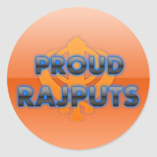 Proud Rajputs Rajputs pride Round Sticker