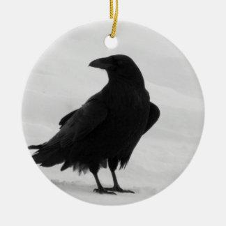 Proud Raven Ceramic Ornament