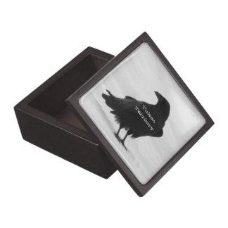 Proud Raven; Yukon Territory Souvenir Premium Gift Box