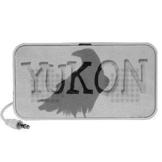 Proud Raven; Yukon Territory Souvenir Travel Speakers